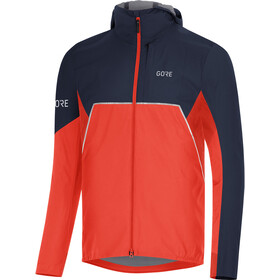 GORE WEAR R7 Partial Gore-Tex Infinium Capuchon Jas Heren, fireball/orbit blue